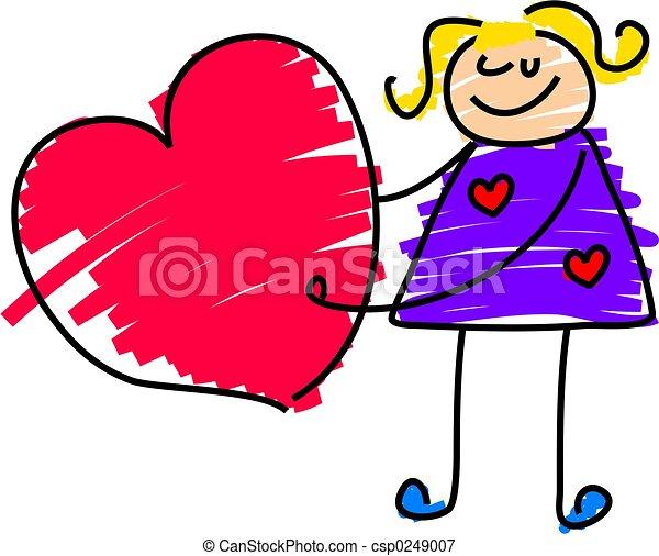 hart, meisje - csp0249007