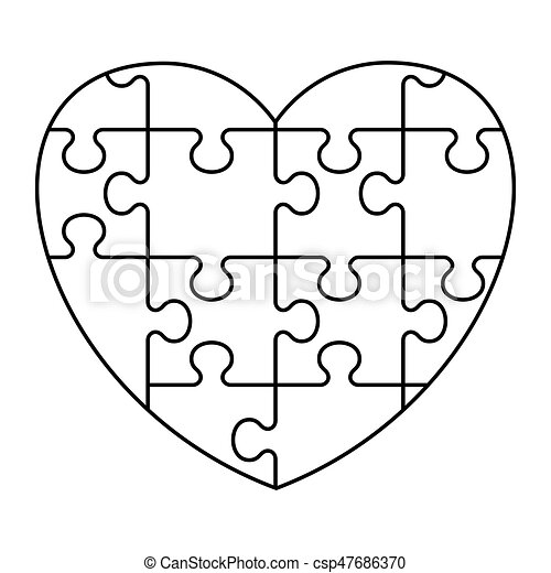 hart raadsel pictogram hart vector illustration