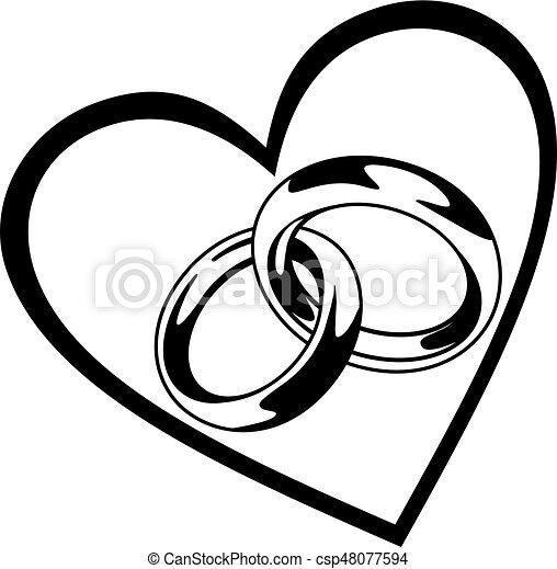 hart ring trouwfeest hart tien eps illustratie