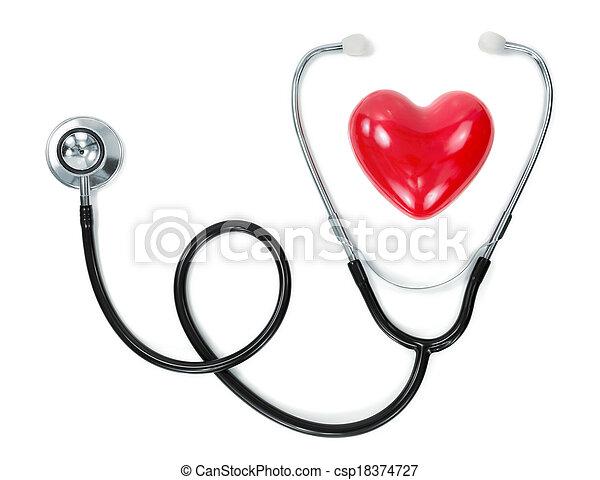 hart, stethoscope - csp18374727