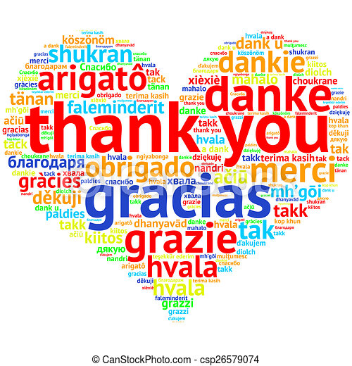 hart, woord, danken, gevormd, -, engelse , u, wolk, witte . you