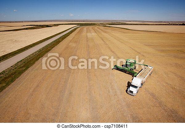 Harvest Aerial - csp7108411