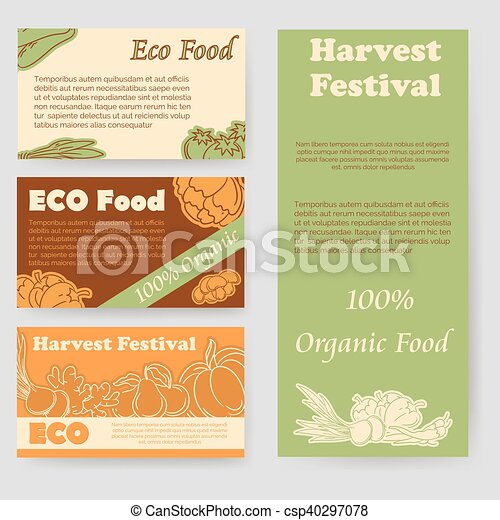 harvest festival and eco food flyer csp40297078