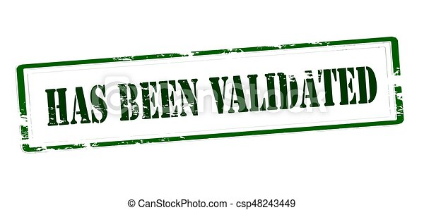 Stamp With Text Has Been Validated Inside Vector Illustration