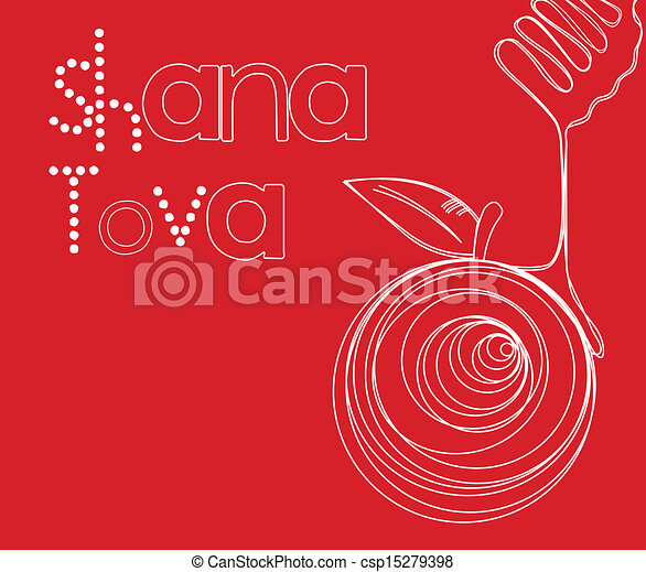 Rosh hahanah tarjeta - csp15279398
