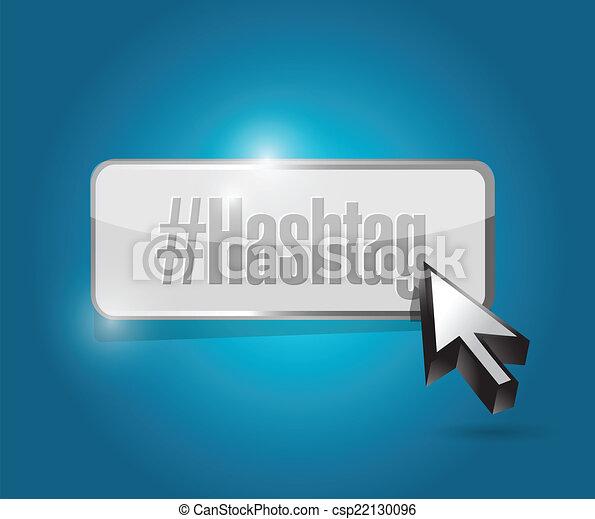 hashtag button illustration design - csp22130096