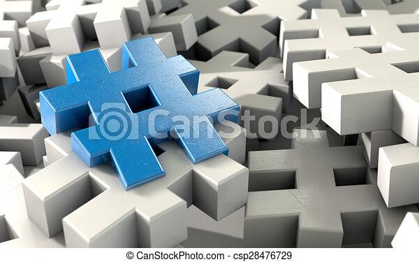 Hashtag Concept - csp28476729