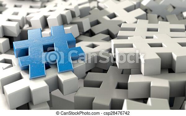 Hashtag Concept - csp28476742