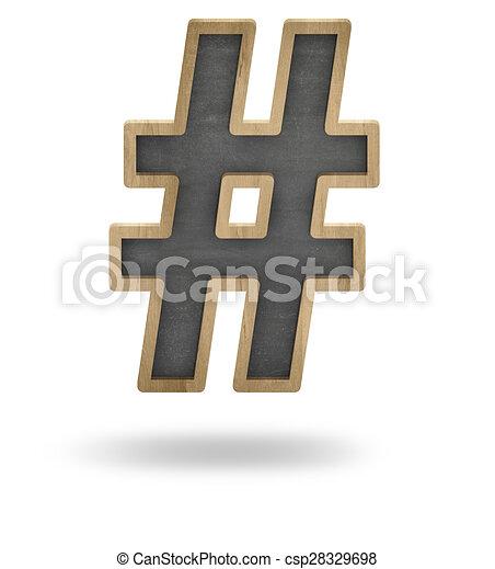 Hashtag concept - csp28329698