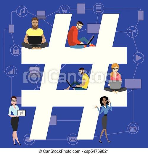 Hashtag concept illustration - csp54769821