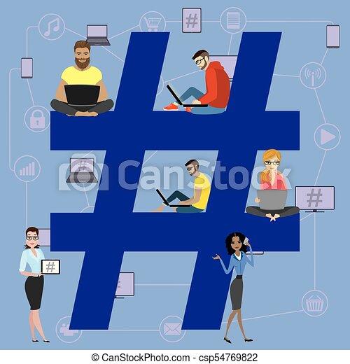 Hashtag concept illustration. - csp54769822