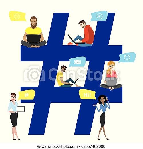 Hashtag concept illustration - csp57482008