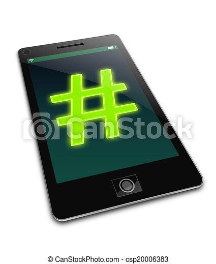 Hashtag concept. - csp20006383