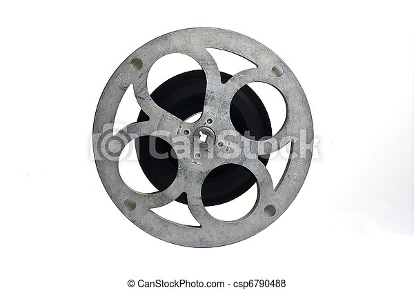 haspel, gedeeltelijk, film, vrijstaand, filled;, witte , film, grond - csp6790488
