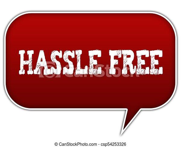 hassle free on red speech bubble balloon illustration clip art rh canstockphoto ca