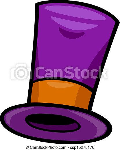hat clip art cartoon illustration - csp15278176