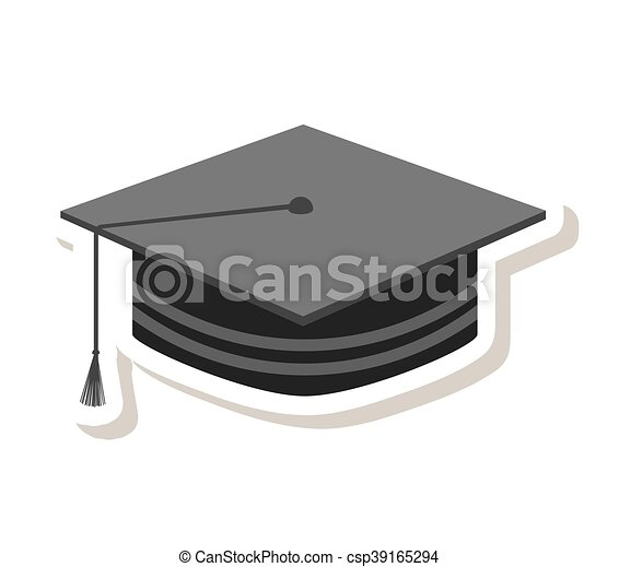 hat graduate isolated icon - csp39165294