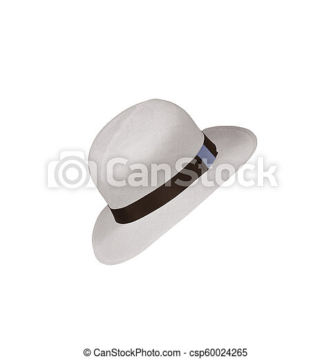 Hat isolated on white background - csp60024265
