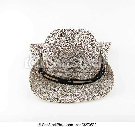 Hat isolated on white background. - csp23270533