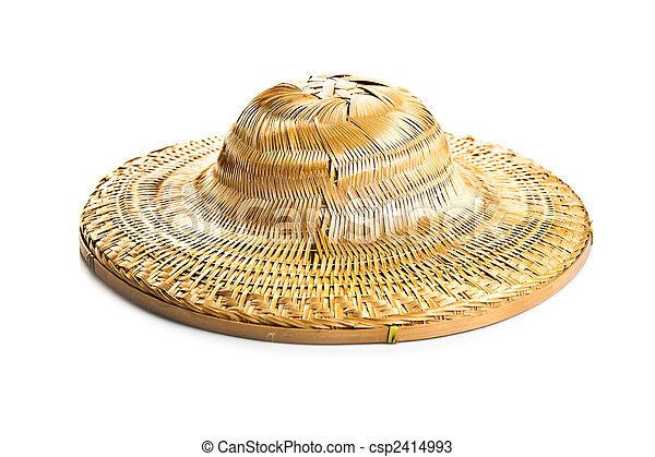 hat isolated on white background - csp2414993