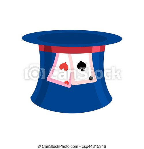 Hat Mad Hatter isolated. Clothing accessories fairy tale Alice in Wonderland - csp44315346