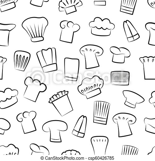 8a0a1e5780d Hat of chef seamless pattern vector illustration. Hat of chef ...