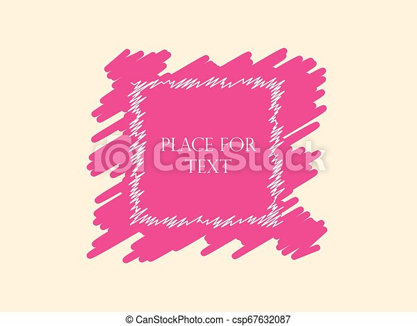 Hatching Lines Place For Text Square Creative Banner Vector Element Isolated On Light Background