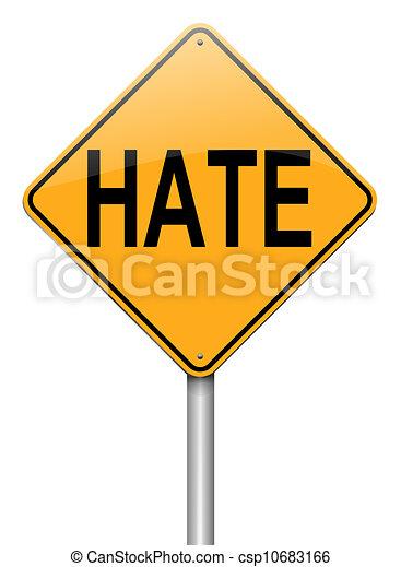 Hate concept. - csp10683166