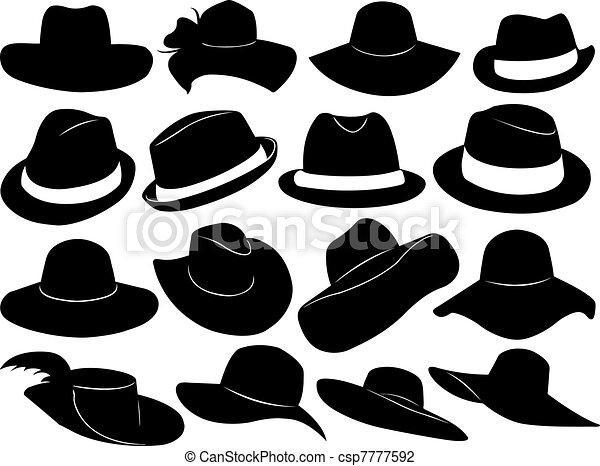 Hats illustration - csp7777592