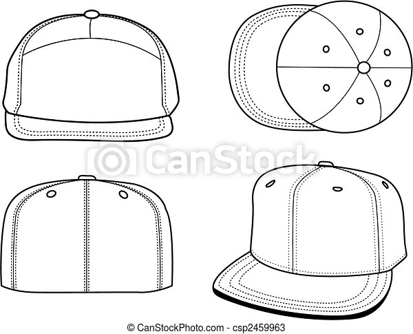 Hats Templates Set Of 4 Blank That Can Be Used As Mockups Or