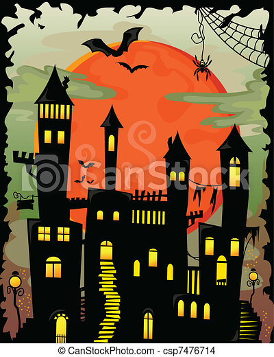 haunted castle - csp7476714