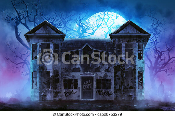 Haunted horror house. - csp28753279