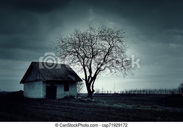 Haunted house - csp71929172