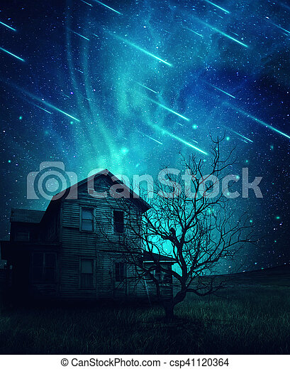 haunted house - csp41120364