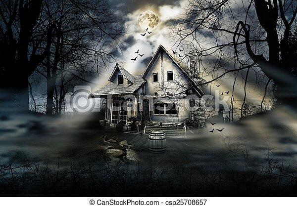 Haunted house - csp25708657