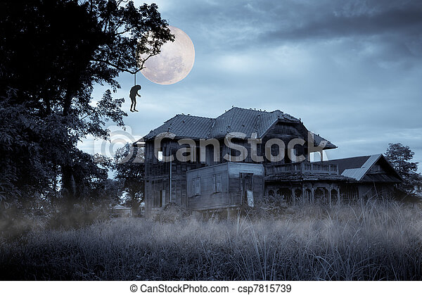 Haunted house - csp7815739