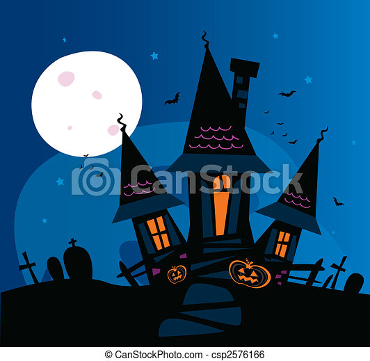 Haunted scary house - csp2576166