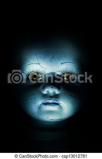 Haunting Child's Doll Face - csp13012781