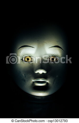 Haunting Child's Doll Face - csp13012793