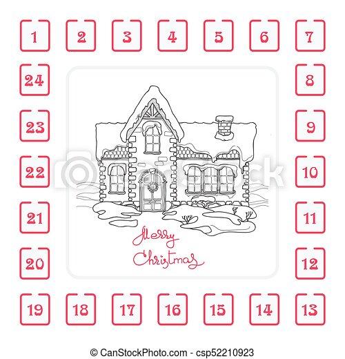Weihnachten Wörter.Haus Advent Wörter Kalender Weihnachten Handgeschrieben