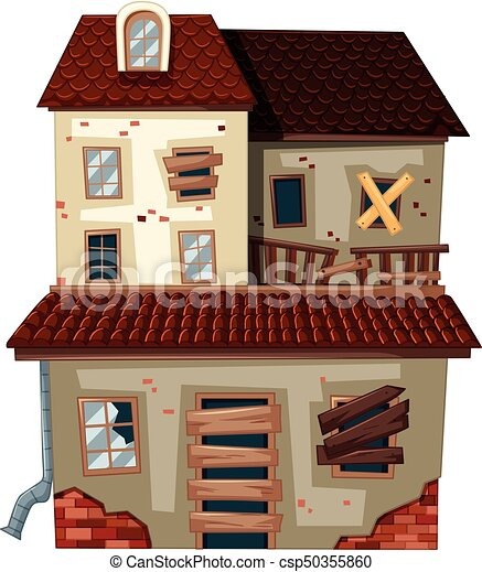 Perfect Haus, Altes , Rotes , Dach   Csp50355860