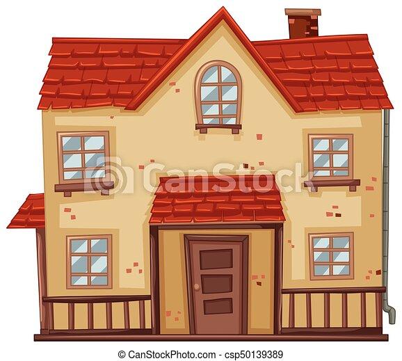 Delightful Haus, Altes , Rotes , Dach   Csp50139389