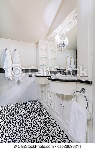 Haus, badezimmer, barock, stilvoll.