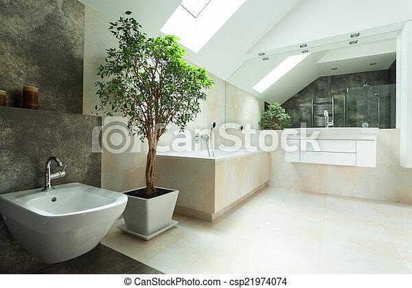 Haus Badezimmer Modern Badezimmer Haus Modern Hell Geraumig