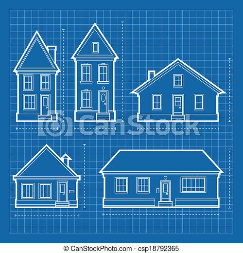 Haus, Bauplaene   Csp18792365