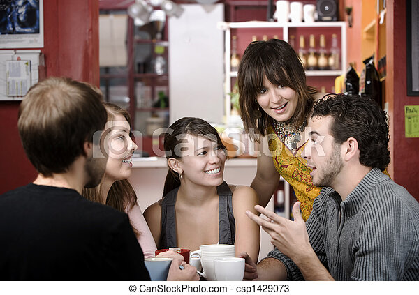 haus, bohnenkaffee, friends - csp1429073