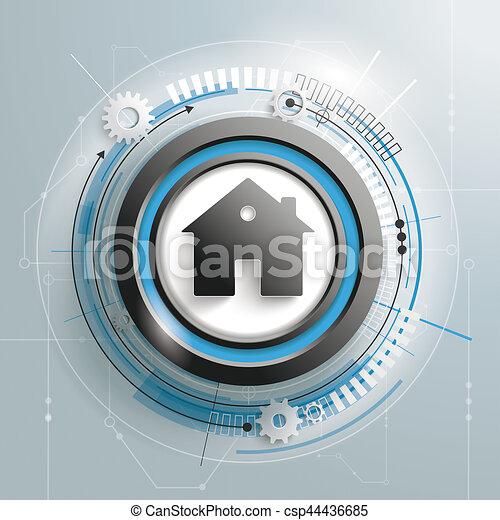 Haus, Brett, Stromkreis   Csp44436685