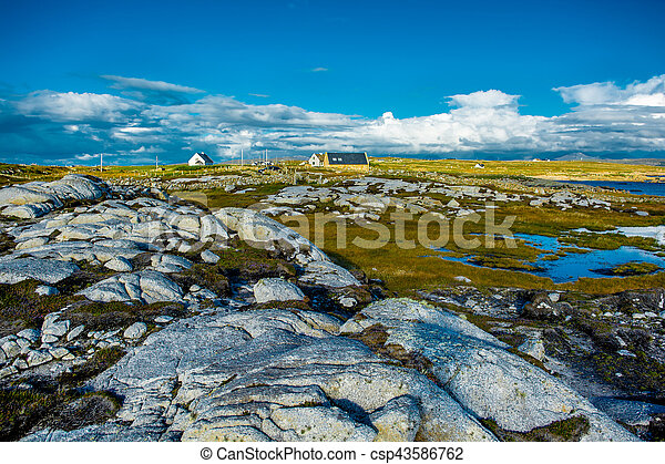 Remote House in Connemara in Irland - csp43586762