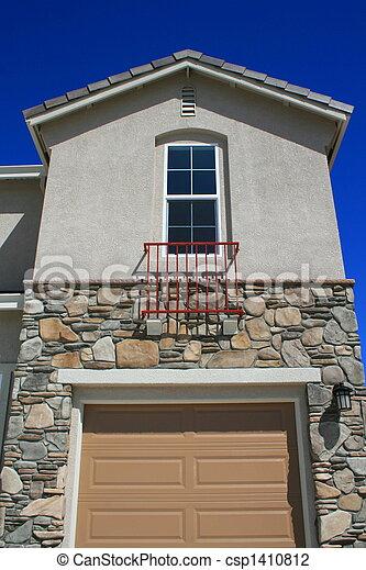Tür Garage Haus haus fenster tür garage garage fenster house ende stockfoto