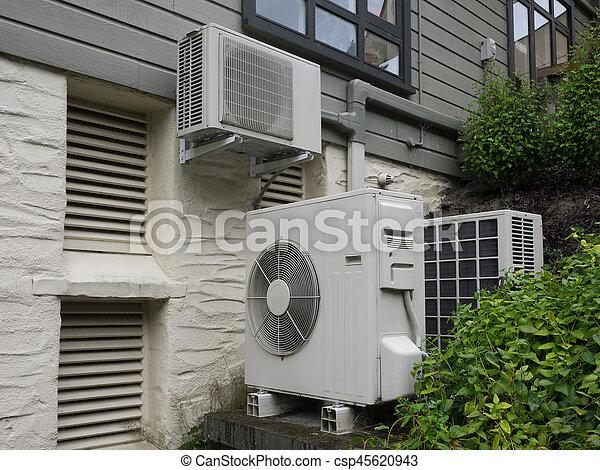 Haus Heizung Klimaanlage Wohnhaeuser Einheit Wohnhaeuser